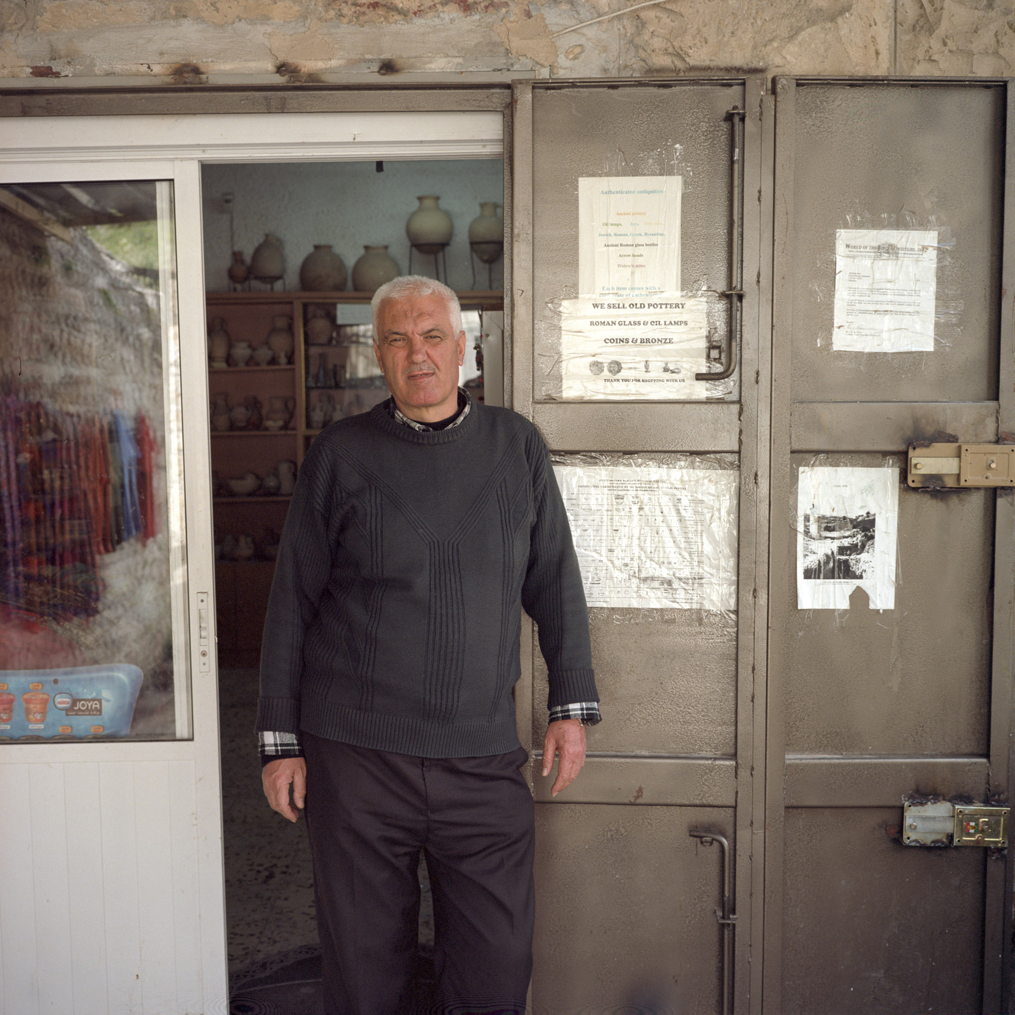 Abraham, the antique dealer near Pool of Siloam, losing business due to newer Israeli tunnel