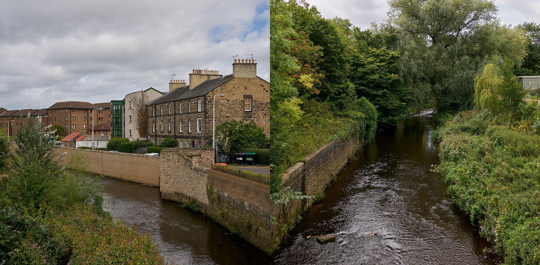 DSC08586 – Edinburgh street and stream